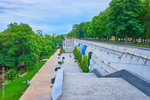 The Greek Park from Primorsky Boulevard, Odessa, Ukraine Fotobehang