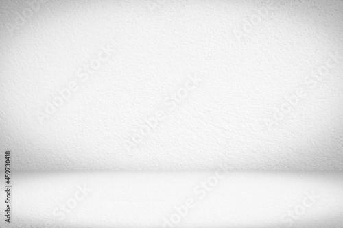 Empty gray concrete floor studio room background Fotobehang