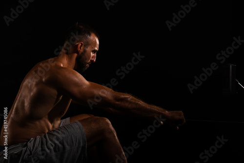 Canvas Print man workout in gym