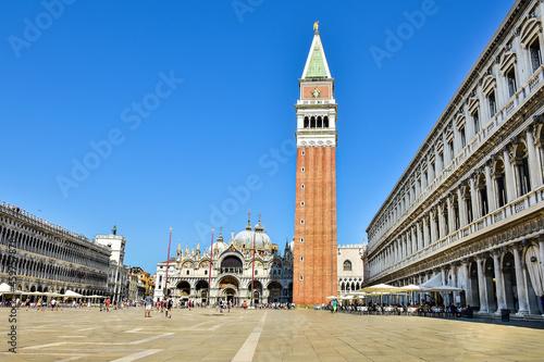 Tela Beautiful architecture, St. Mark's Square in Venice, Italy