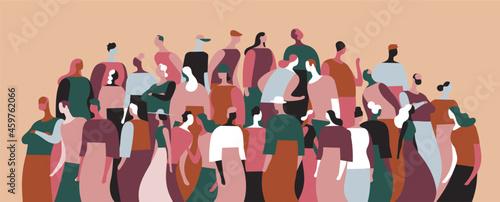 Fotografia, Obraz Gruppo di persone della comunità che parlano e interagiscono tra di loro