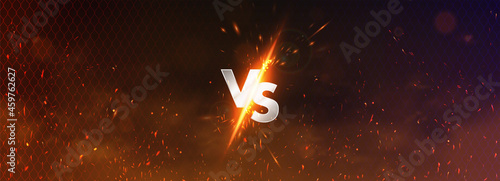 Fotografia Versus battle banner concept MMA, fight night, boxing and other competitions