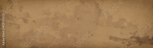 Obraz na plátně Brown background with grunge texture, painted light brown background wall with v
