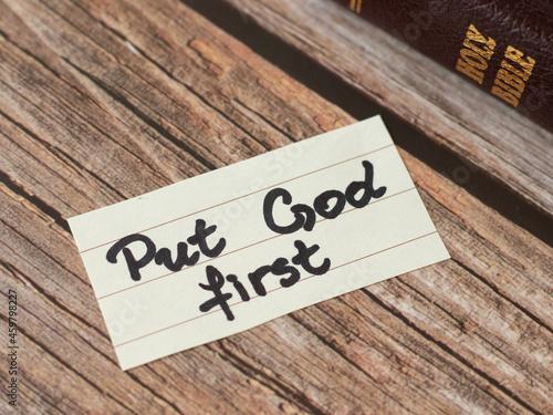 Tela Put God Jesus Christ first