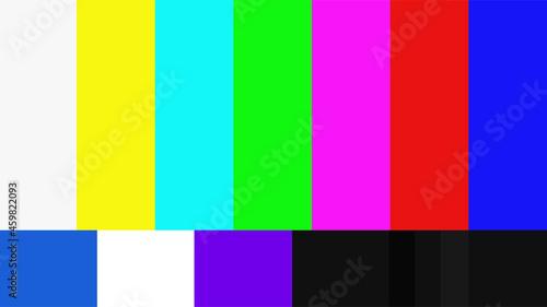 Fotografering テレビのカラーコード(カラーバー)SMPTEタイプ2