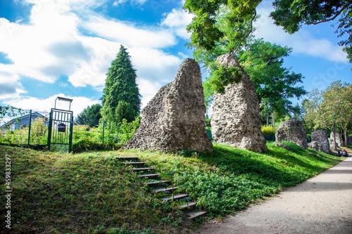 Leinwand Poster Roman Stones ( Römersteine ) Mainz, District Bretzenheim, Zahlbachtal, Germany