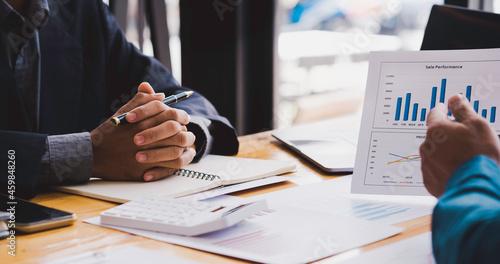 Fotografie, Obraz Business people brainstorming meeting at office, teamwork process