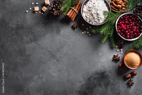 Fotografering Christmas baking background