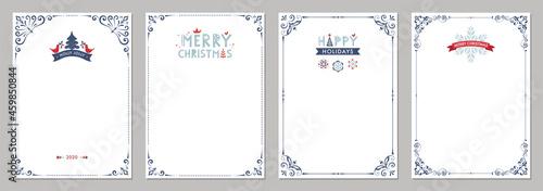Fotografie, Obraz Merry Christmas greeting cards