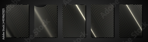 Fotografía Modern structure black cover design set