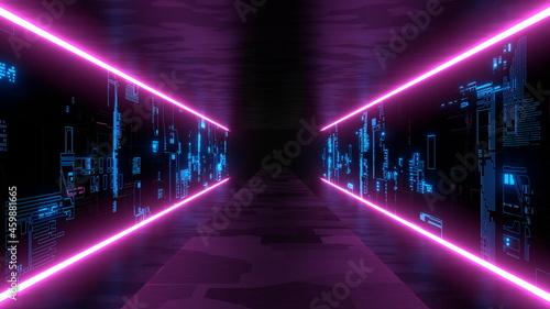 ネオン トンネル VJ サイバー空間 クラブ 紫 [別Verあり]
