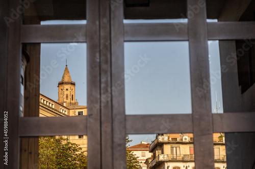 Tela Città Sant'Angelo il campanile della collegiata di San Michele Arcangelo rifless