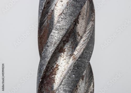 Foto Drill punch macro metal perforation