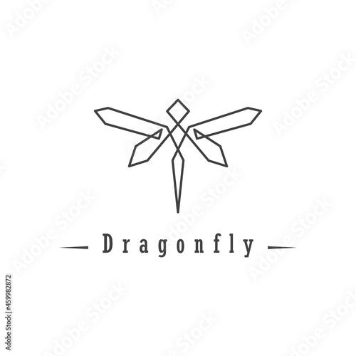 Fototapeta Dragonfly Logo