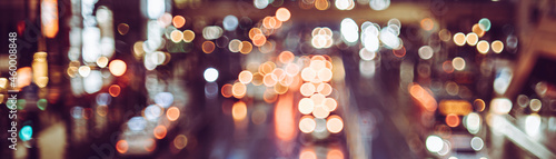 Obraz na plátně 夜の道路 カラフルな丸ボケ