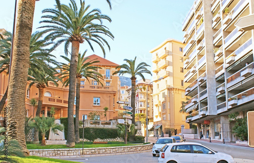 Foto The Boulevard of Jardin Exotique in Monaco