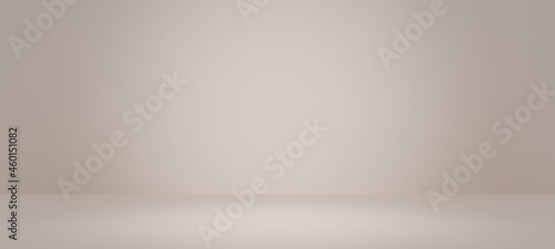 Canvas Abstract pastel light  yellow color and redial gradient background with white table backdrops display product design