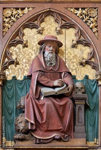 Obraz na plátně VIENNA, AUSTIRA - JUNI 24, 2021: The relief of St
