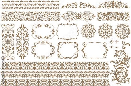 Canvas-taulu Vector set frames and vignette for design template