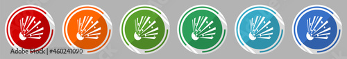 Fotografering Bomb icon set, vector illustration in 6 colors options for webdesign and mobile