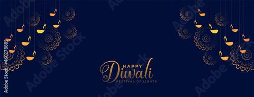 Foto traditional decorative happy diwali festival banner design