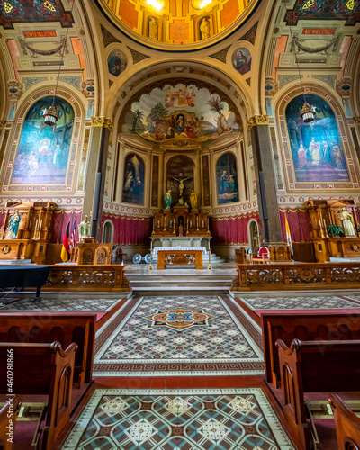 Obraz na plátně Mother of God Roman Catholic Church in Covington Kentucky