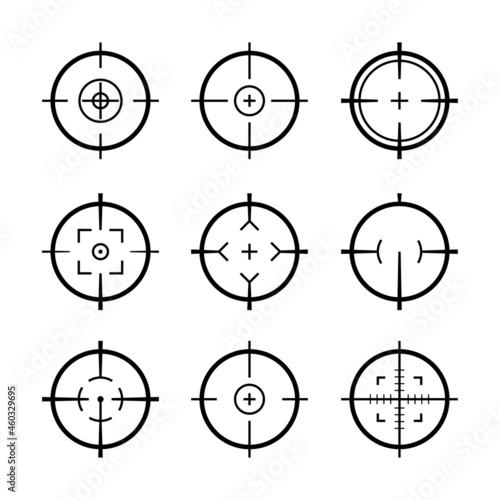 Fototapeta Target aim icons military set