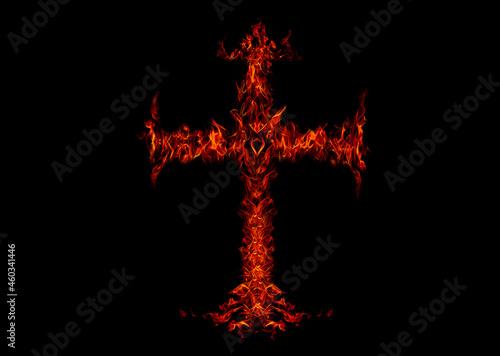 Canvas-taulu A flame shaped like a cross.