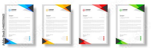 Fotografía corporate modern business letterhead design, business letterhead, business letter head design