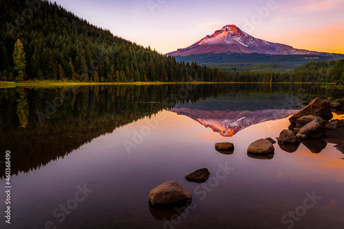 Wallpaper Mural Mount Hood from Lost Lake at Sunset