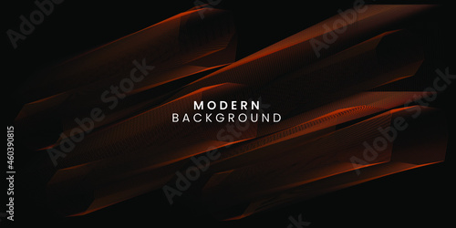 Fototapeta Abstract banner background with orange shapes for landing page