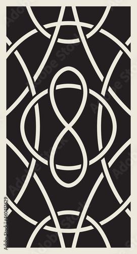 Fotografie, Obraz A print on a back side of tarot cards