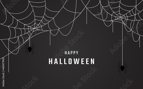 Fotografie, Obraz happy halloween background vector design, spider web