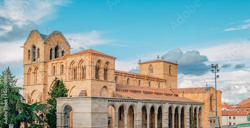 landscape with churches in avila, spain
