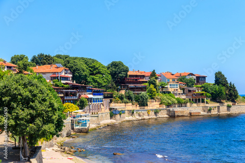 Canvas-taulu View of the embankment of the old town of Nessebar, Bulgaria