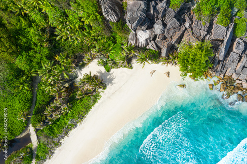 Wallpaper Mural Grand Anse - one of the most beautiful beach of Seychelles