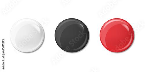 Fotografiet Realistic badges set