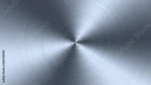 Radial, circular metal brushed texture background. Metal pattern.