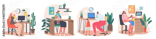 Obraz na plátně Maternity and Career Concept