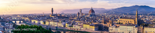 Fotografering Sunset over a panorama of Florence, Italy