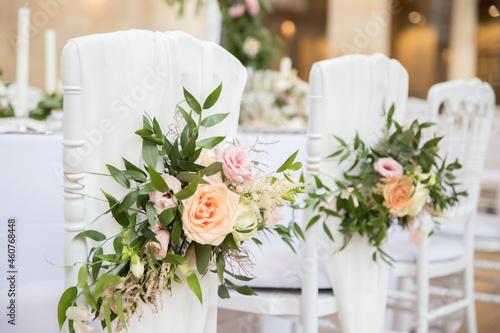 Tela Mariage fleur chaise décoration