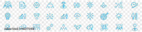 Fotografie, Obraz Business teamwork, work group, human resources, and team building icon set
