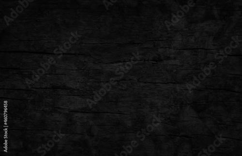 Fototapeta Black wood plank texture background