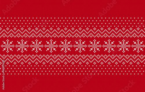 Fotografie, Obraz Knit seamless pattern
