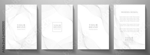 Fotografija Contemporary technology cover design set