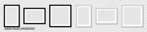 Fotografia Set realistic picture photo frame mockup, wall presentation, frame with shadow,