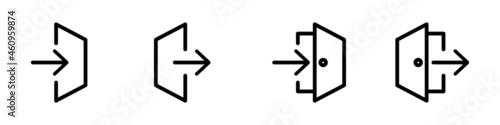 Conjunto de icono de puerta de inicio de sesión y cierra de sesión Fototapet