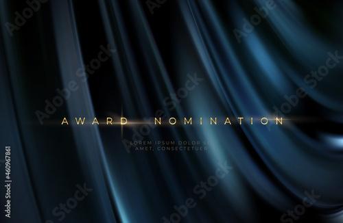 Murais de parede Awards ceremony luxurious black wavy background with golden text