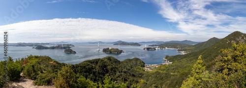 Fotografie, Obraz 大島館山から見た来島海峡大橋(しまなみ海道)