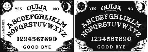 Slika na platnu Graphic template inspired by Ouija Board